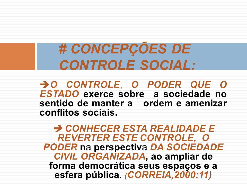 O CONTROLE, O PODER QUE O ESTADO exerce sobre a sociedade no sentido de manter a ordem e amenizar conflitos sociais.
