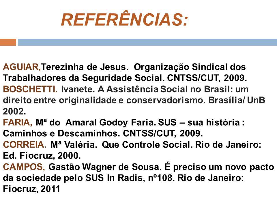 REFERÊNCIAS: AGUIAR,Terezinha de Jesus.