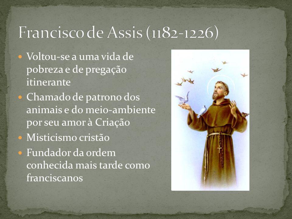 Considerado por muitos o maior teólogo católico Tentou conciliar o aristotelismo com o cristianismo Demonstração da existência de Deus pelas 5 vias Maior obra: Suma teológica