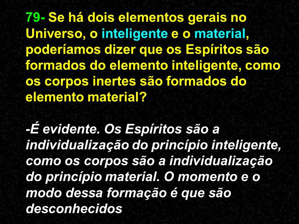 Princípio espiritual -Todo efeito inteligente deve ter uma causa inteligente A Gênese- cap. XI A Gênese- cap. XI -Tem existência própria, não se origi