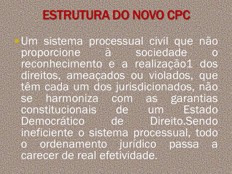 Um sistema processual civil que não proporcione à sociedade o reconhecimento e a realização1 dos direitos, ameaçados ou violados, que têm cada um dos