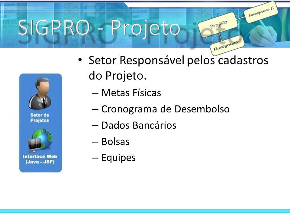 Setor responsável por movimentações financeiras dos projetos.