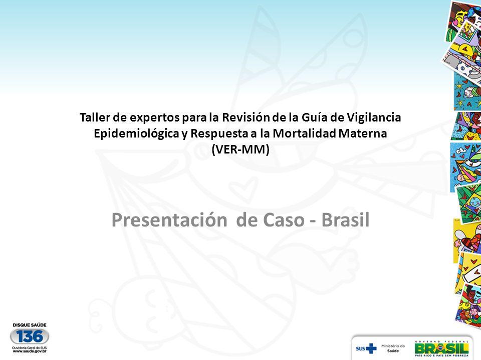 Taller de expertos para la Revisión de la Guía de Vigilancia Epidemiológica y Respuesta a la Mortalidad Materna (VER-MM) Presentación de Caso - Brasil