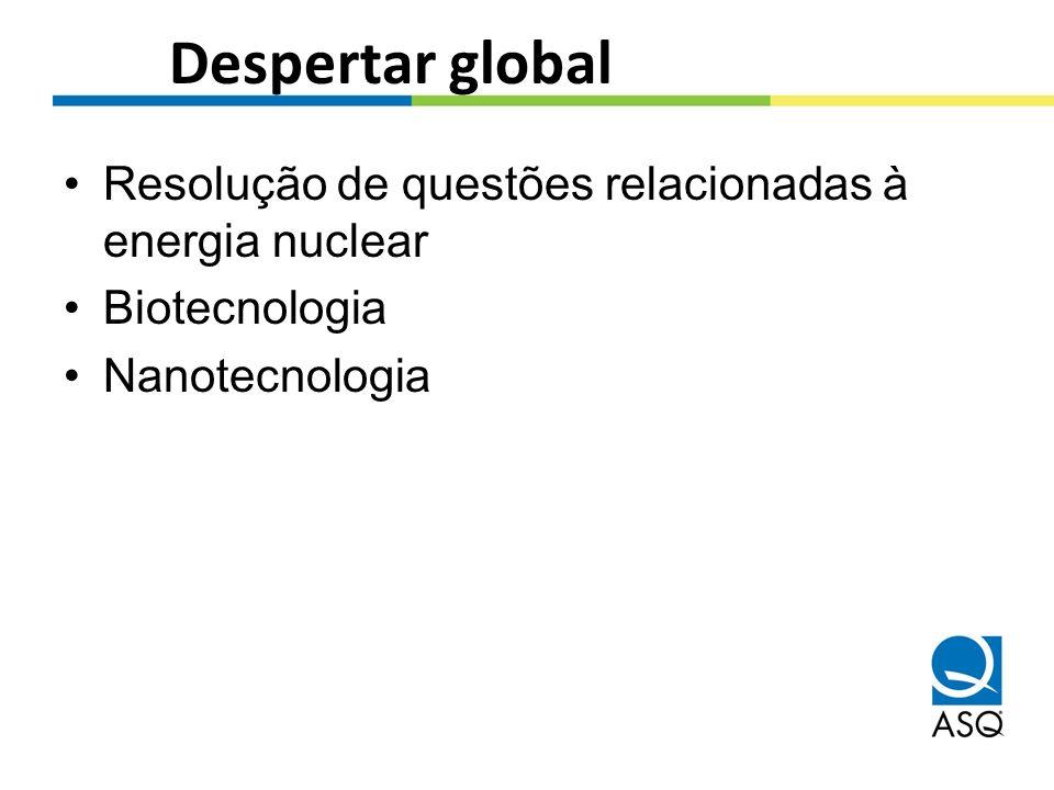 Despertar global Resolução de questões relacionadas à energia nuclear Biotecnologia Nanotecnologia