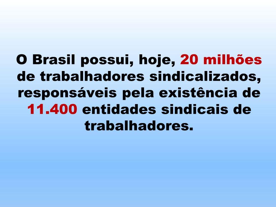 Os profissionais liberais somam mais de 5 milhões, no Brasil, sendo representados por mais de 500 entidades sindicais.