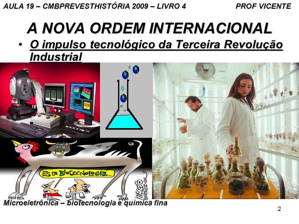 2 A NOVA ORDEM INTERNACIONAL O impulso tecnológico da Terceira Revolução IndustrialO impulso tecnológico da Terceira Revolução Industrial AULA 19 – CM