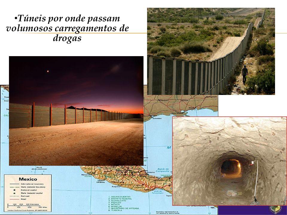 construção de um muro físico noite e dia vigiado por um forte esquema de segurança.