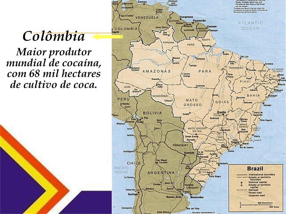 Fronteira Brasileira: 15 mil quilômetros de fronteiras Fiscalização deficiente/inexistente Países vizinhos: maiores produtores mundiais
