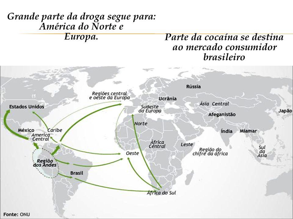 Três maiores produtores mundiais de cocaína respondem por praticamente 100% da produção mundial.