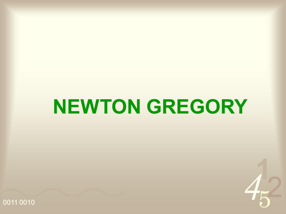 4 2 5 1 0011 0010 NEWTON GREGORY