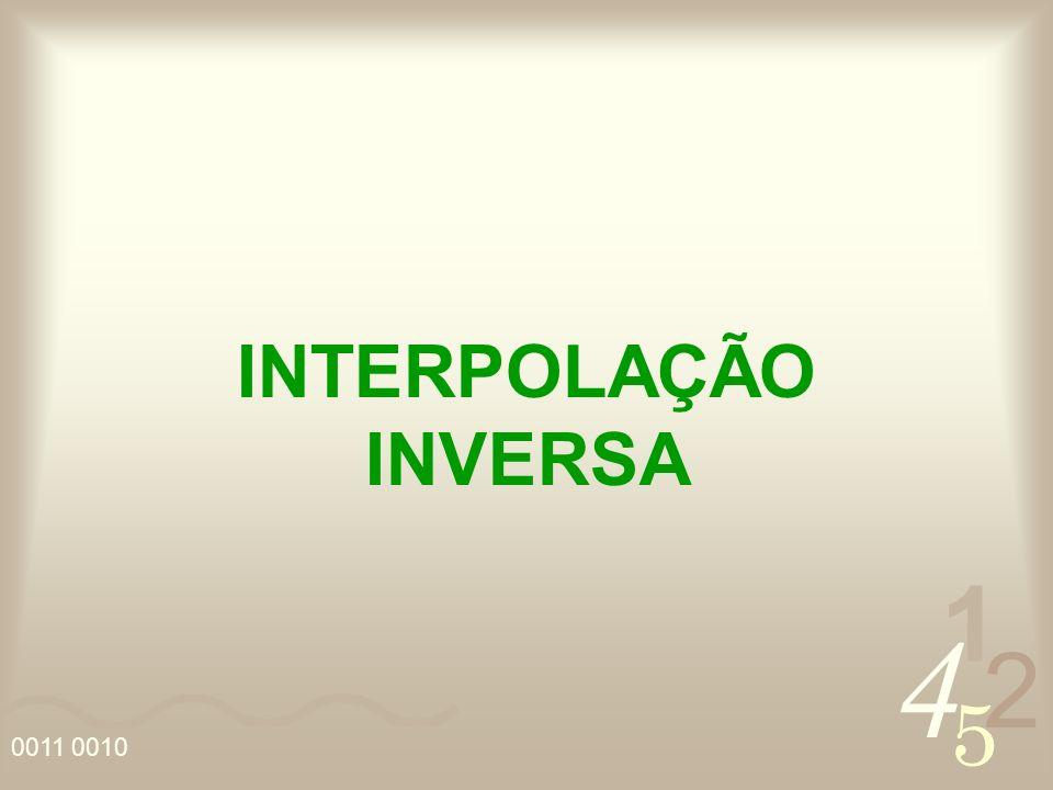 4 2 5 1 0011 0010 INTERPOLAÇÃO INVERSA