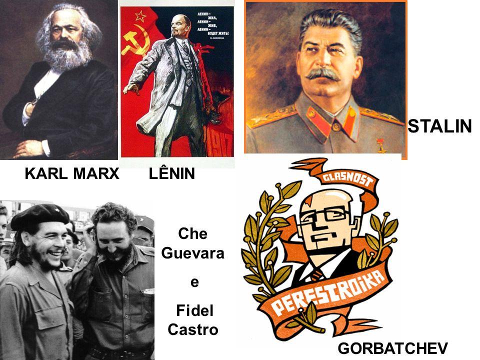 LÊNIN STALIN KARL MARX GORBATCHEV Che Guevara e Fidel Castro