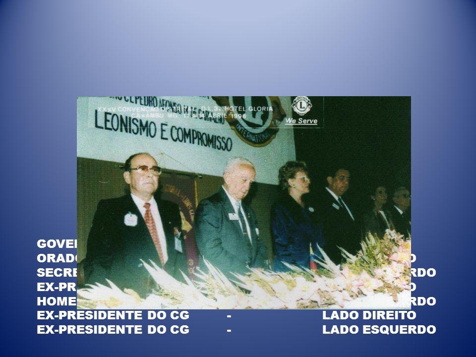 GOVERNADORA-CENTRO ORADOR OFICIAL -LADO DIREITO SECRETÁRIO-LADO ESQUERDO EX-PRESIDENTE DO CG-LADO DIREITO HOMENAGEADA-LADO ESQUERDO EX-PRESIDENTE DO C