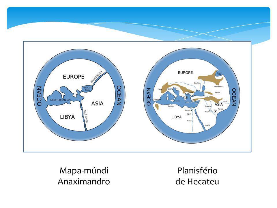 Mapa-múndi Anaximandro Planisfério de Hecateu