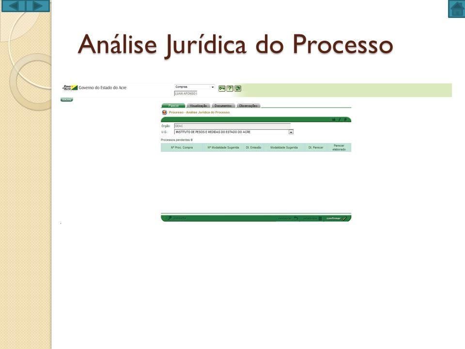 Análise Jurídica do Processo