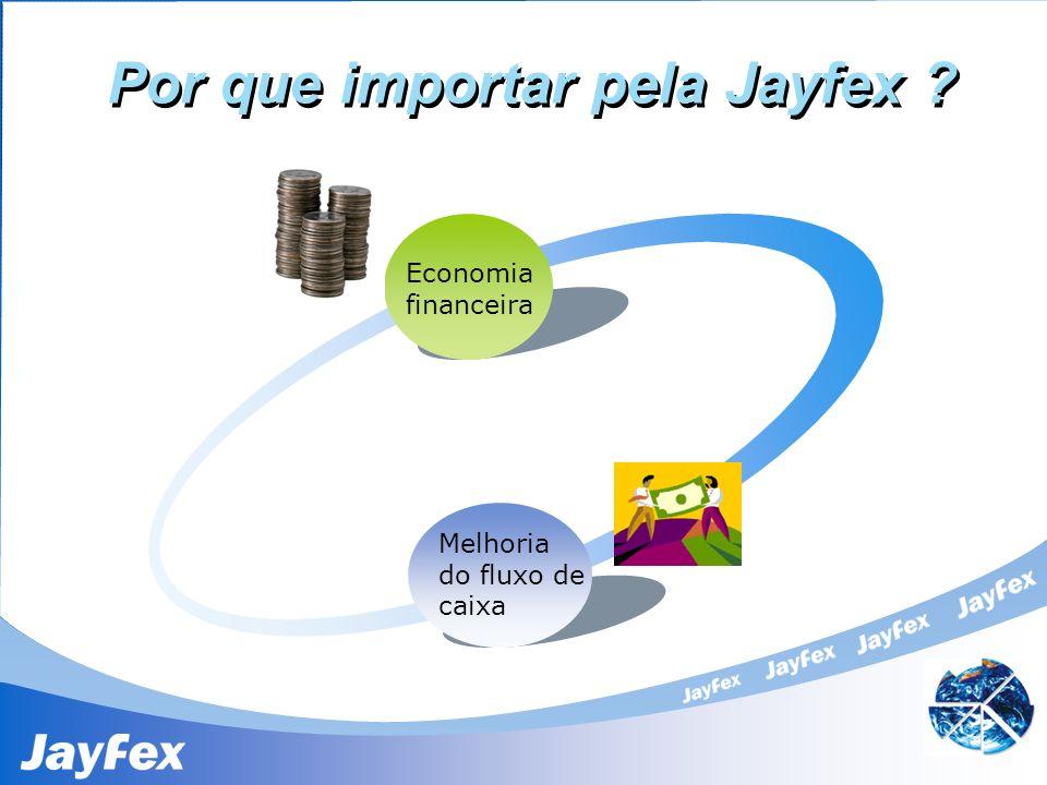Por que importar pela Jayfex ? Economia financeira Melhoria do fluxo de caixa