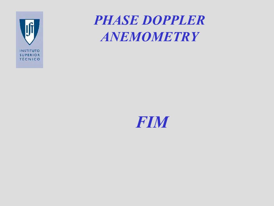 PHASE DOPPLER ANEMOMETRY FIM