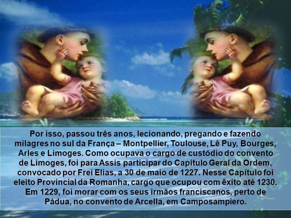 Em Rimini, os hereges impediam o povo de ir aos seus sermões. Então, apelou para o milagre. Foi à costa do Adriático e começou pregar aos peixes, que