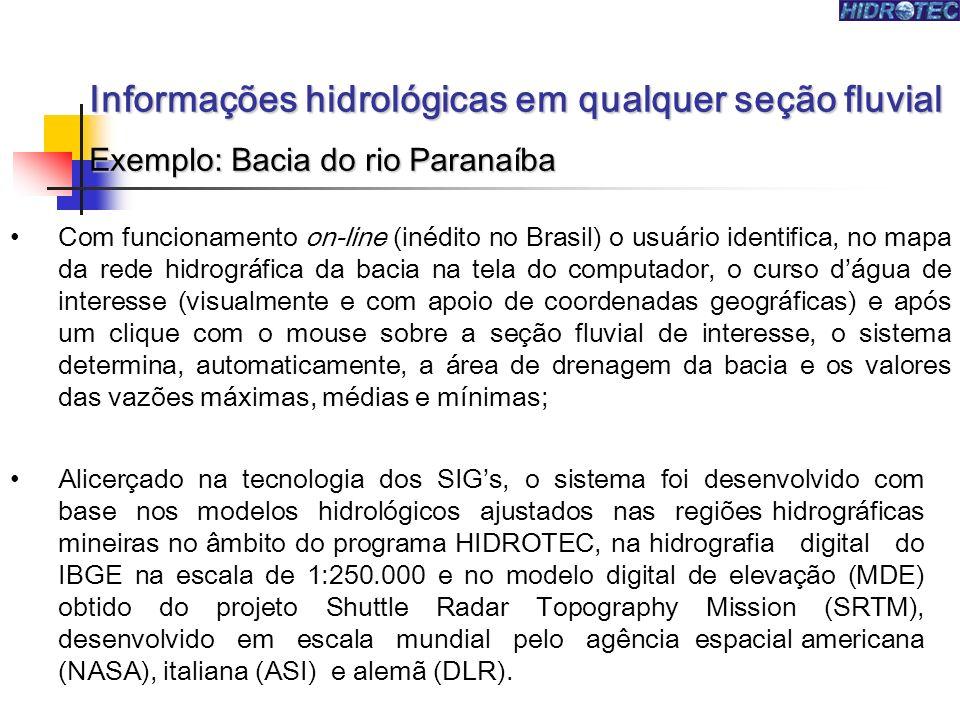 Com funcionamento on-line (inédito no Brasil) o usuário identifica, no mapa da rede hidrográfica da bacia na tela do computador, o curso dágua de inte
