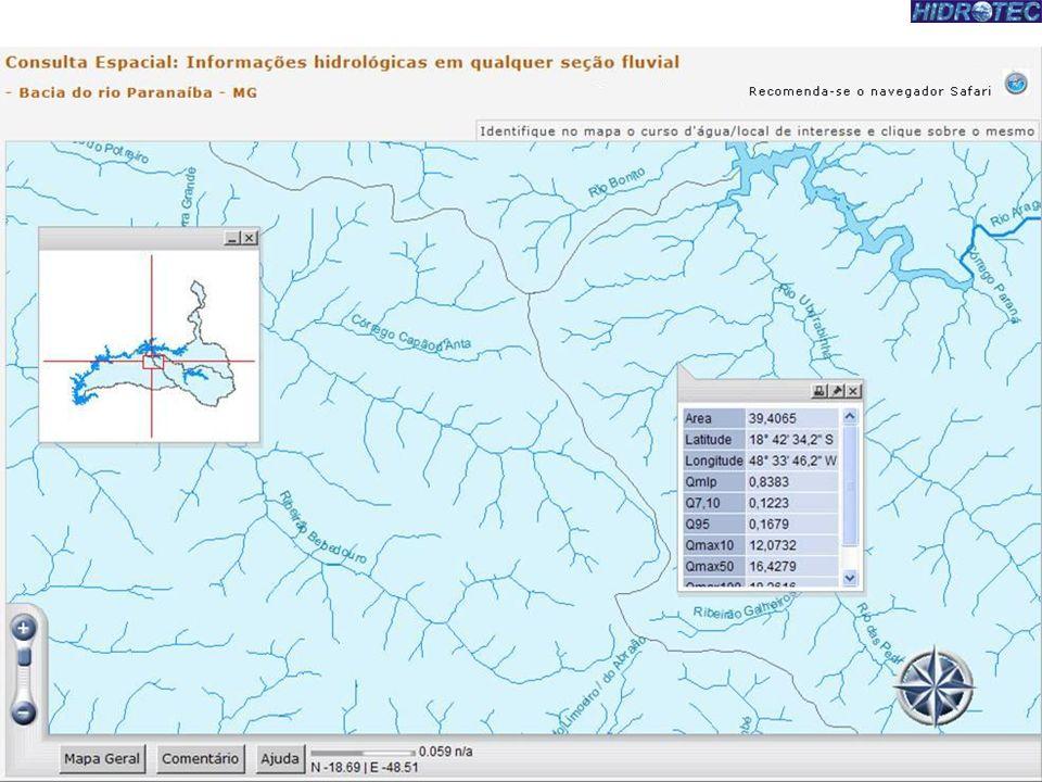 Objetiva-se apresentar nessa consulta espacial um mapeamento das nascentes localizadas em território mineiro com informações hidrológicas nos trechos dos cursos d água considerados de 1º ordem segundo classificação de Strahler (segmentos de cursos d água localizados entre uma confluência e uma nascente).