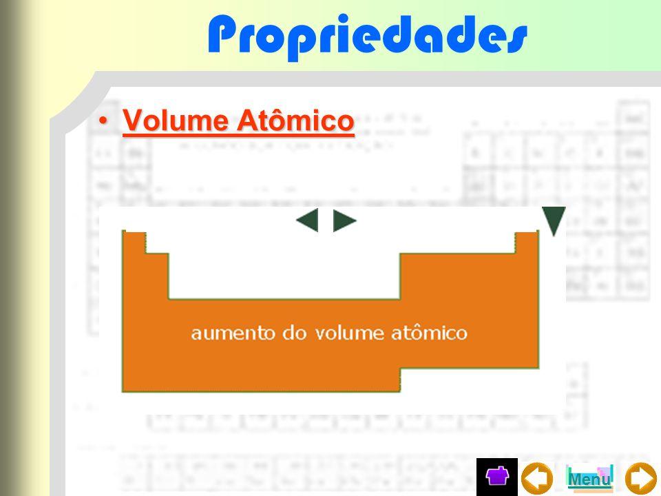 Propriedades Volume AtômicoVolume Atômico Menu