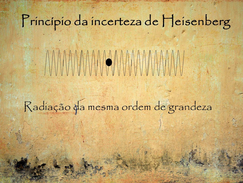 Princípio da incerteza de Heisenberg Radiação da mesma ordem de grandeza