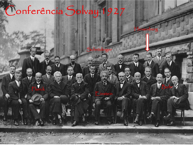 Conferência Solvay 1927 Einstein Bohr Heisenberg Schrödinger Planck