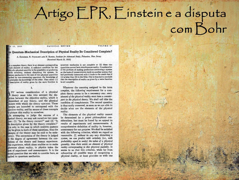 Artigo EPR, Einstein e a disputa com Bohr