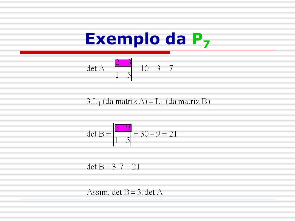 Exemplo da P 7
