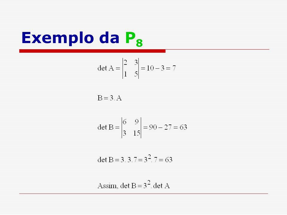 Exemplo da P 8
