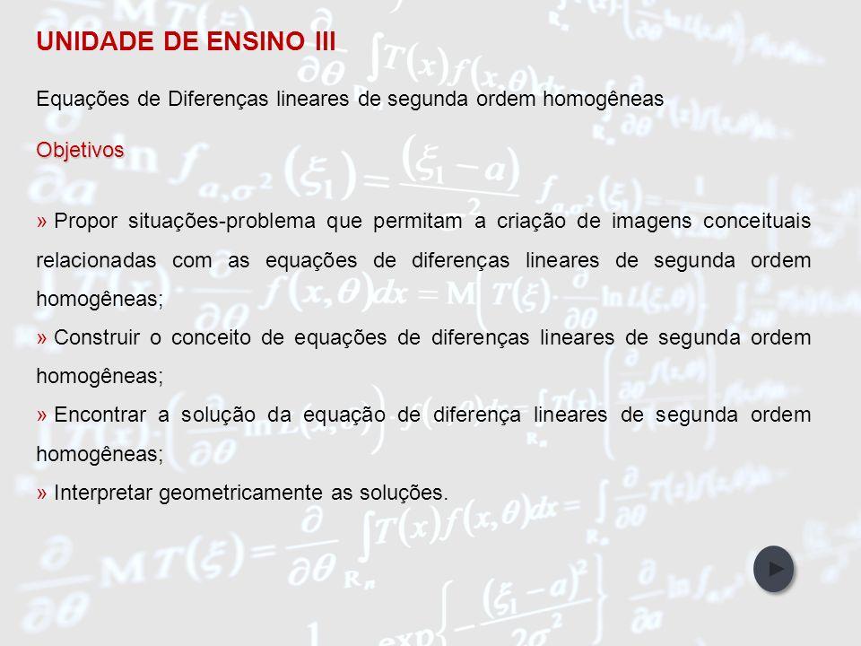 IntroduçãoObjetivos Abordagem Metodológica Participantes da Pesquisa Referências Bibliográficas Unidades de Ensino UNIDADE DE ENSINO III Equações de D