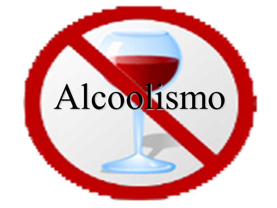 Alcoolismo O alcoolismo é uma doença caracterizada pela dependência física ou psicológica de bebidas alcoólicas associada a complicações sócio- económicas causados pelo vício e pelos efeitos tóxicos do álcool.