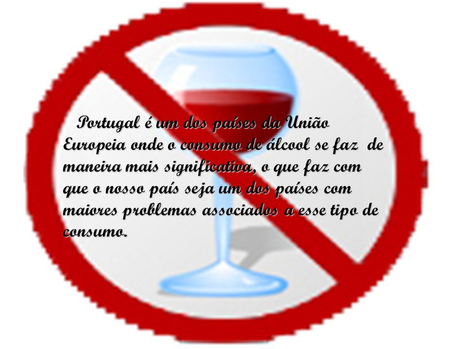 Portugal é um dos países da União Europeia onde o consumo de álcool se faz de maneira mais significativa, o que faz com que o nosso país seja um dos p