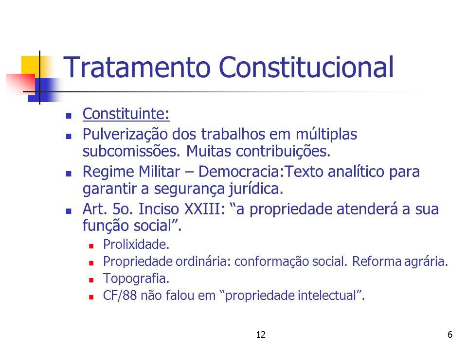 126 Tratamento Constitucional Constituinte: Pulverização dos trabalhos em múltiplas subcomissões. Muitas contribuições. Regime Militar – Democracia:Te