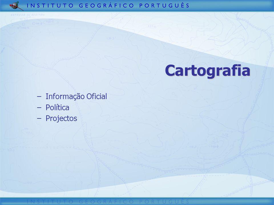 Cartografia –Informação Oficial –Política –Projectos