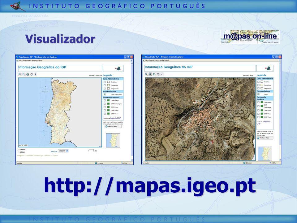 Visualizador http://mapas.igeo.pt