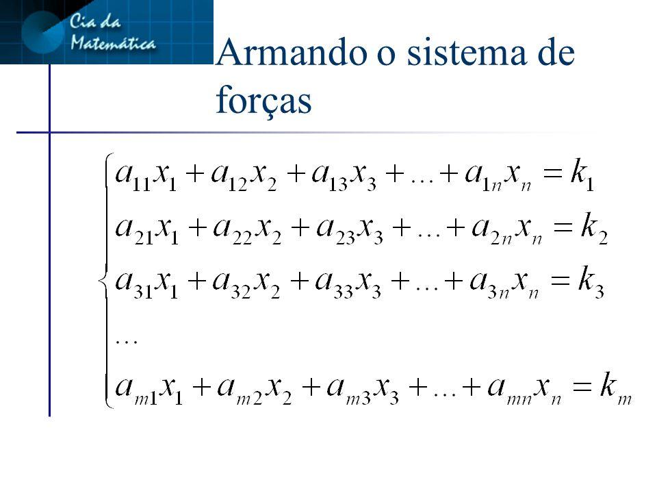 Armando o sistema de forças