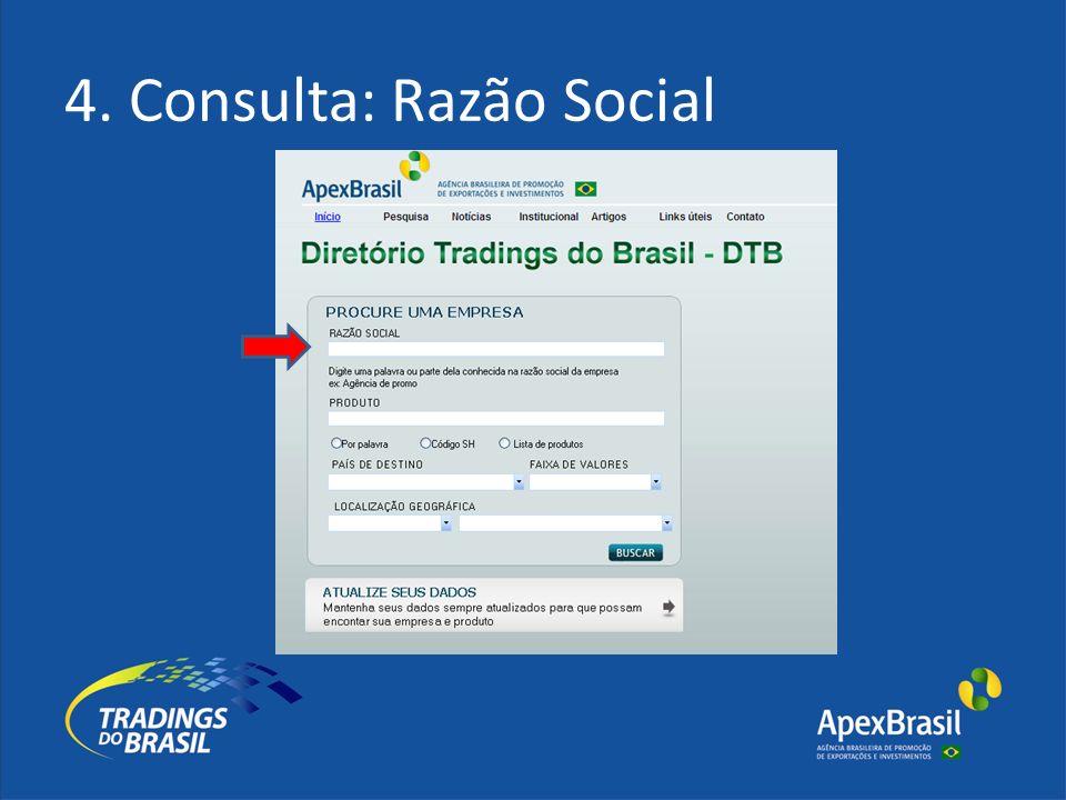 4. Consulta: Razão Social