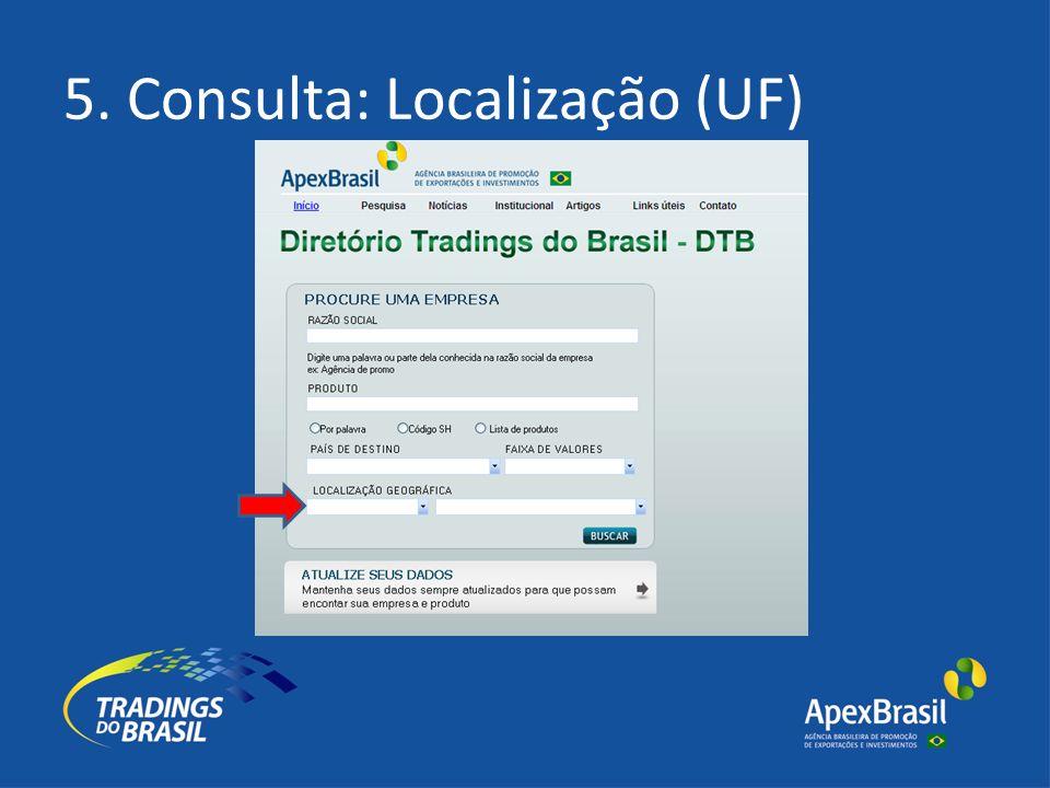 5. Consulta: Localização (UF)