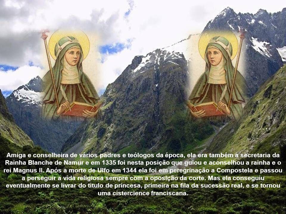 Santa Brígida começou a ter visões, a maioria da crucificação, na idade de sete anos. Sua mãe faleceu em 1315, quando ela tinha apenas 12 anos e foi e
