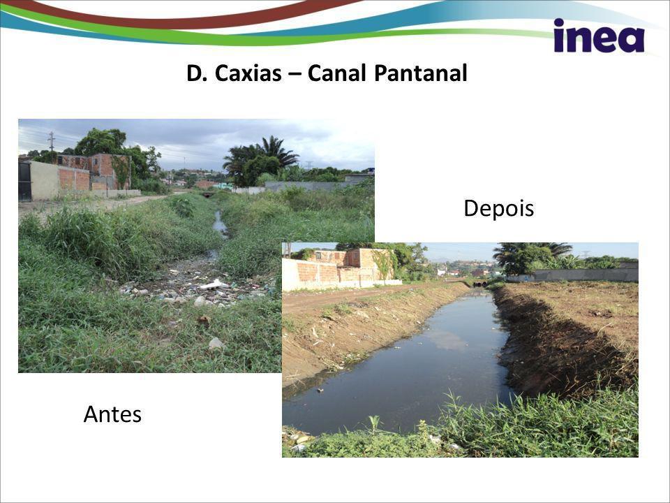 D. Caxias – Canal Pantanal Antes Depois