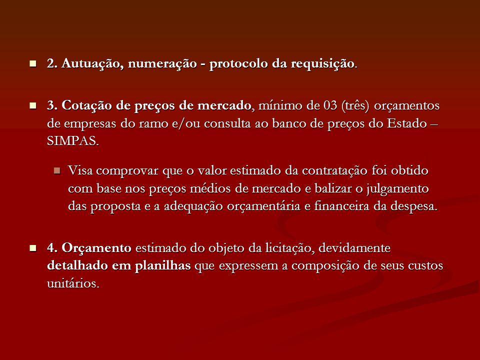 Critérios adotados pela PGE para a confecção de instrumento convocatório CONTEÚDO VARIÁVEL - SEÇÃO A - PREÂMBULO a regência legal; o órgão/entidade e setor licitante; a modalidade licitatória e o respectivo número de ordem; o processo administrativo; o tipo de licitação; a finalidade da licitação; os pressupostos de participação; o regime de execução ou forma de fornecimento; a regra quanto à admissão ou vedação a consórcios; o local, data e horário para início da sessão pública; a dotação orçamentária; os requisitos de habilitação; a codificação concernente ao certificado de registro, quando exigível; o prazo do contrato; a indicação quanto à exigência de garantia do contrato; as condições de reajustamento e revisão; e o local, horário e responsável por esclarecimentos.