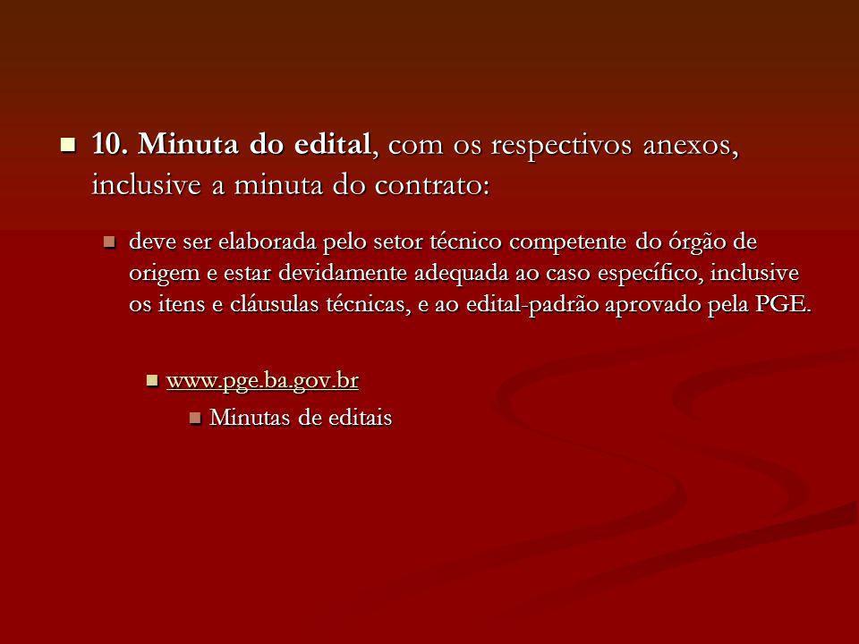 11.Parecer jurídico (Lei estadual nº 9.433/05: art.
