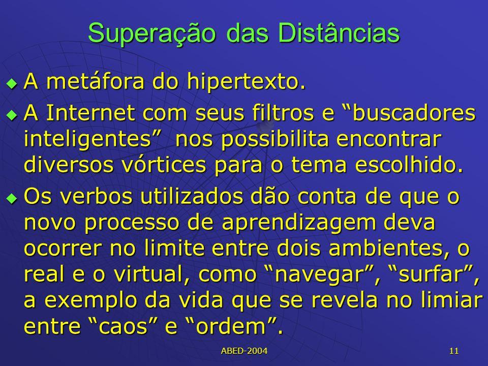 ABED-2004 11 Superação das Distâncias A metáfora do hipertexto.