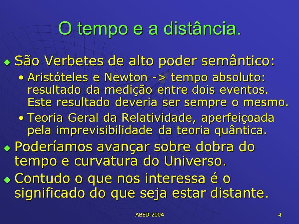 ABED-2004 4 O tempo e a distância.