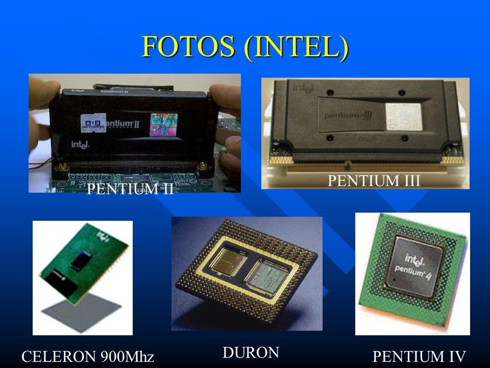 COMPARATIVOS AMD R$ INTELR$ Duron 900 Mhz162,56Intel Celeron 950 Mhz283,51 Athlon ThunderBird 950 Mhz249,85Pentium III 800 Mhz398,82 Athlon XP 1500 Mh