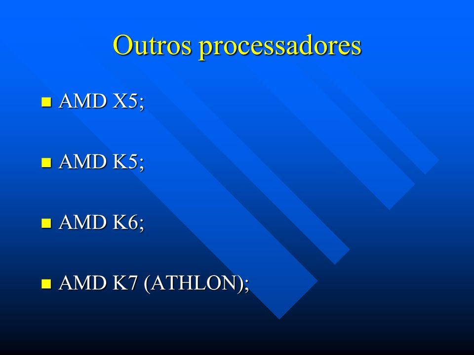 Ordem cronológica dos processadores INTEL: 80486 – 80486DX4; 80486 – 80486DX4; PENTIUM; PENTIUM; PENTIUM MMX; PENTIUM MMX; PENTIUM PRO; PENTIUM PRO; P