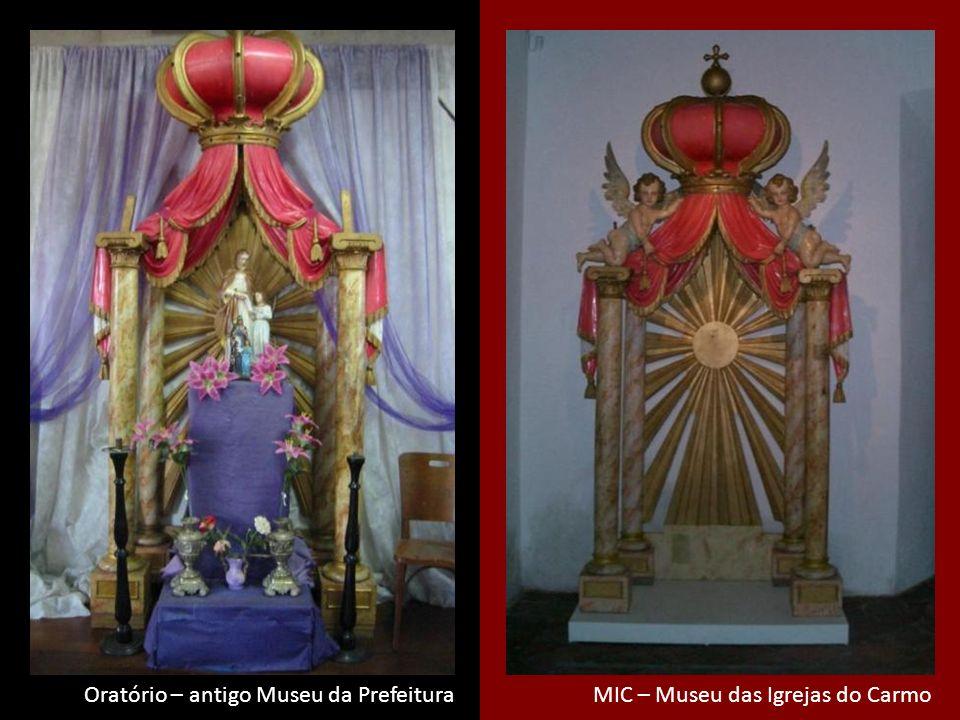 Thelma diz MIC – Museu das Igrejas do CarmoOratório – antigo Museu da Prefeitura