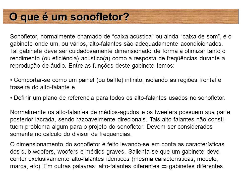 O que é um sonofletor? Sonofletor, normalmente chamado de caixa acústica ou ainda caixa de som, é o gabinete onde um, ou vários, alto-falantes são ade