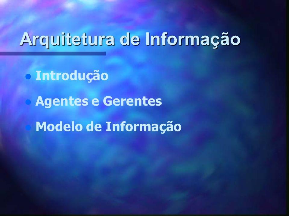 Arquitetura de Informação l l Introdução l l Agentes e Gerentes Modelo de Informação